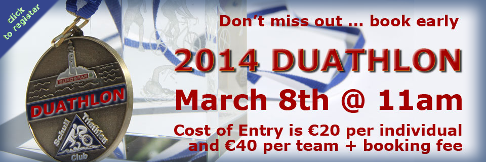 Book Early!  This year don't miss the Duathlon
