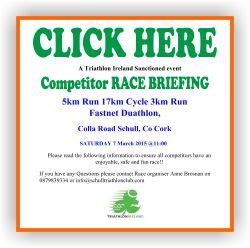 Fastnet Duathlon Race Briefing